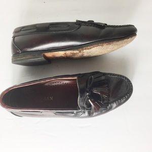 Cole Haan Burgundy 9D Tassel Oxford Loafers